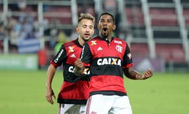 Gol de Rodinei evitou prejuízo maior para o Flamengo Foto: Lucas Tavares / Agência O Globo