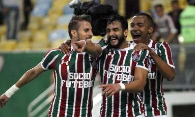 Artilheiro. Após cumprir suspensão, Henrique Dourado, autor de 14 gols no Brasileirão, voltará ao time Foto: Nelson Perez / Agência O Globo