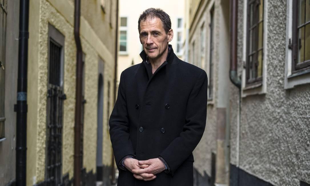 David Lagercrantz, autor que deu continuidade à série de livros Millennium, de Stieg Larsson Foto: DIVULGAÇÃO