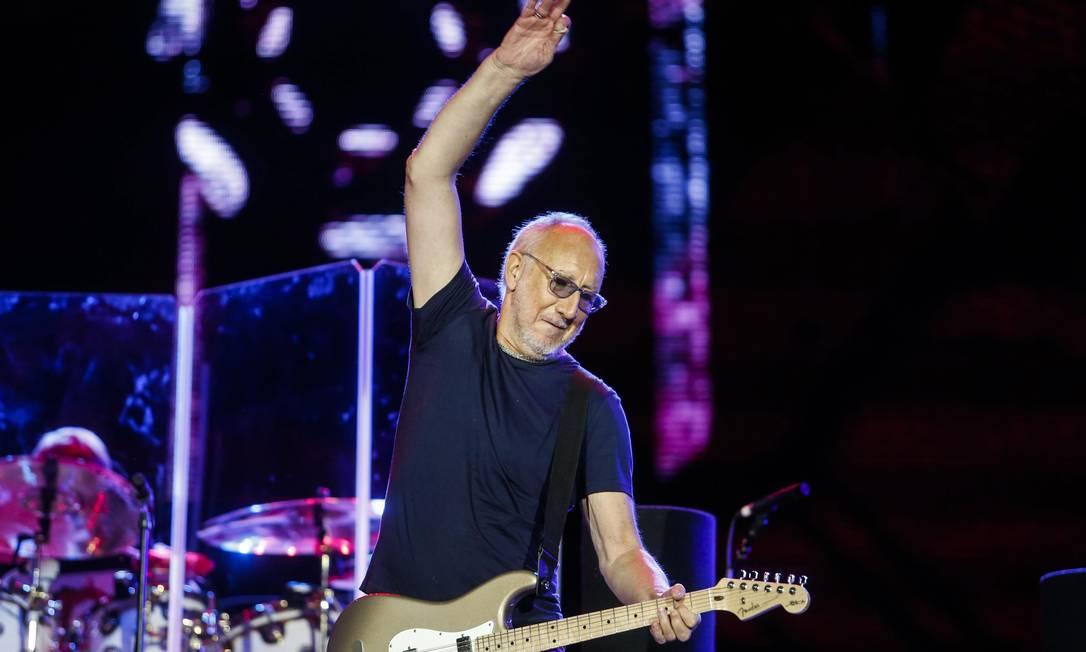 """Pete Townshend, guitarrista do The Who, que abriu show com """"I can' explain"""" Foto: Antonio Scorza / O Globo"""
