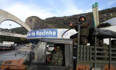 Ocupação da Rocinha pelas Forças Armadas Foto: Paulo Nicolella / Agência O Globo