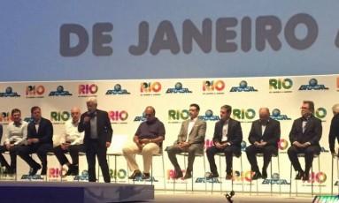 Autoridades no lançamento do calendário Rio de Janeiro a Janeiro Foto: Ricardo Rigel