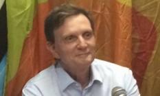 Marcelo Crivella, em entrevista a rádio comunitária na Rocinha Foto: Divulgação / Divulgação