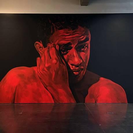 Painel de Éder Oliveira, da série