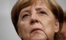 Merkel perdeu mais de 1 milhão de votos para partido que critica abertura do país para refugiados Foto: ODD ANDERSEN / AFP