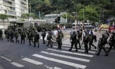 Militares das Forças Armadas na Rocinha Foto: Uanderson Fernandes / Agência O Globo