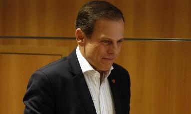 Prefeito de São Paulo, João Doria viajou duas vezes em avião que pertence a advogado e amigo, Nelson Wilians Foto: Edilson Dantas / Agência O Globo