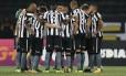 Jogadores do Botafogo, que enfrentarão o Vitória na tarde deste domingo Foto: Vitor Silva/SSPress/Botafogo