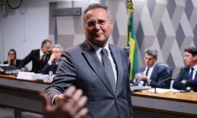 Senador Renan Calheiros (PMDB/AL) durante votação da Reforma Trabalhista na Comissão de Constituição e Justiça do Senado Federal - 28/06/2017 Foto: Jorge William / Agência O Globo