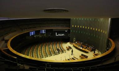 O Plenário da Câmara dos Deputados Foto: Ailton de Freitas / Agência O Globo 25/09/2017