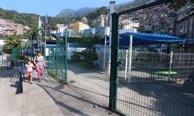 A UPA da Rocinha: atendimento na unidade foi transferido por causa da violência Foto: Fabiano Rocha / Agência O Globo