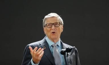 O cofundador da Microsoft, Bill Gates, agora usa smartphone Android Foto: ELIZABETH SHAFIROFF / REUTERS