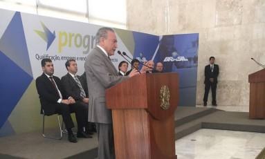 O presidente Michel Temer no Palácio do Planalto Foto: Divulgação/Presidência