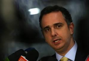 O presidente da Comissão de Constituição e Justiça (CCJ) da Câmara, deputado Rodrigo Pacheco (PMDB-MG) - 06/07/2017 Foto: Givaldo Barbosa / Agência O Globo