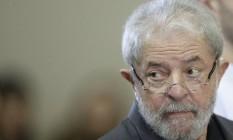 O ex-presidente Luiz In´ácio Lula da Silva ( PT ) Foto: Edilson Dantas / Agência O Globo 09/02/2017