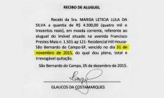 Recibos de aluguel apresentados por Lula têm datas inexistentes Foto: Reprodução