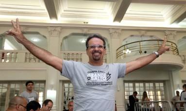 Marcelo Guimarães no dia das eleições de 2014, que ele disputou e em que ficou na terceira posição Foto: Satiro Sodre/SSPress