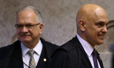 Os ministros do Supremo Tribunal Federal (STF), Edson Fachin e Alexandre de Moraes - 14/09/2017 Foto: Jorge William / Agência O Globo