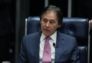 O presidente do Senado, Eunício Oliveira (PMDB-CE) Foto: Ailton de Freitas / Agência O Globo / 12-7-17