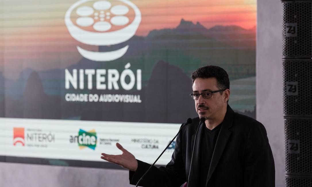 Sérgio Sá Leitão no lançamento do programa Niterói Cidade do Audiovisual: parceria com prefeitura Foto: Janine Moraes/MinC