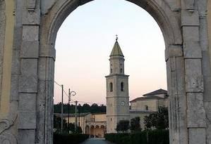 O mosteiro de Folloni, onde o antigo tecido é mantido como relíquia Foto: WIKIPEDIA