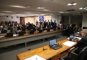 Sessão da Comissão de Constituição e Justiça (CCJ) do Senado Federal, em 16/08/2017 Foto: Ailton de Freitas / Agência O Globo