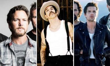 Pearl Jam, Red Hot Chili Peppers e The Killers vêm para o Lollapalooza 2018 Foto: Arquivo