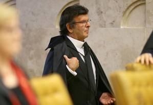 O ministro do Supremo Tribunal Federal (STF) Luiz Fux - 21/09/2017 Foto: Jorge William / Agência O Globo