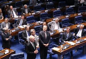 Senado aprova 'urgência' no caso Aécio, mas deixa votação para semana que vem Foto: Ailton de Freitas / Agência O Globo