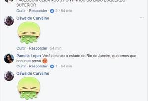 Internautas criticarma a gestão de Sergio Cabral Foto: Reprodução/Facebook