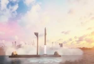 SpaceX pretende oferecer viagens de longa distância em no máximo uma hora Foto: Instagram/Reprodução