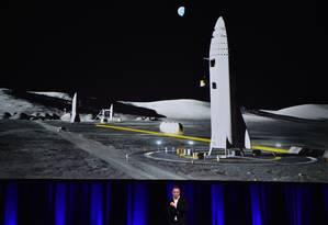 Alon Musk apresentou os planos da SpaceX para a colonização de Marte Foto: PETER PARKS / AFP