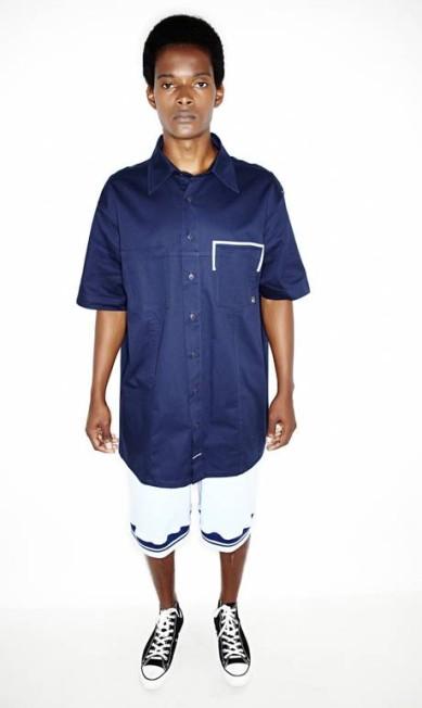 Camisa e bermuda, ambas LAB. Tênis Converse Vitor Pickersgill