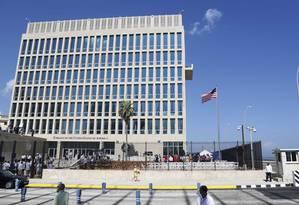 Embaixada dos EUA em Havana Foto: Desmond Boylan / AP