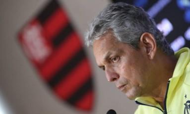 Reinaldo Rueda deu entrevista no Ninho do Urubu Foto: Gilvan de Souza/Flamengo/Divulgação