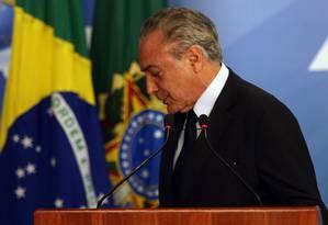 O presidente Michel Temer Foto: Givaldo Barbosa / Agência O Globo 28/09/2017
