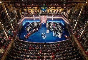 Cerimônia do prêmio Nobel da Paz de 2016 Foto: Alexandre Mahmoud / Divulgação