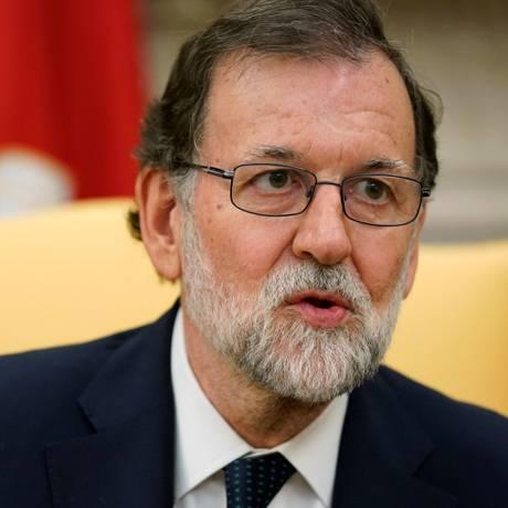 Presidente do governo espanhol, Mariano Rajoy, faz discurso em visita a Washington Foto: JONATHAN ERNST / REUTERS