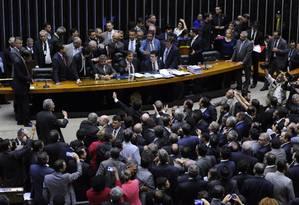 Plenário da Câmara dos Deputados em dia de votação Foto: LUCIO BERNARDO JR / Agência O Globo