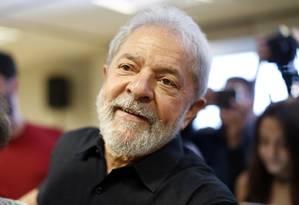 O ex-presidente Lula lidera as intençoes de voto para 2018 Foto: Edilson Dantas / Agência O Globo