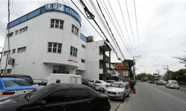 Base da UPP na Cidade de Deus Foto: Marcelo Theobald / Agência O Globo