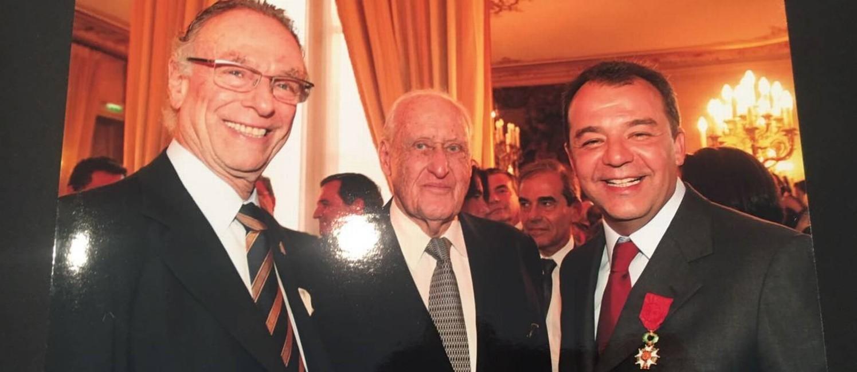 Imagem obtida pelo GLOBO mostra Nuzman ao lado de João Havelange e Sérgio Cabral na 'farra dos guardanapos' Foto: Reprodução