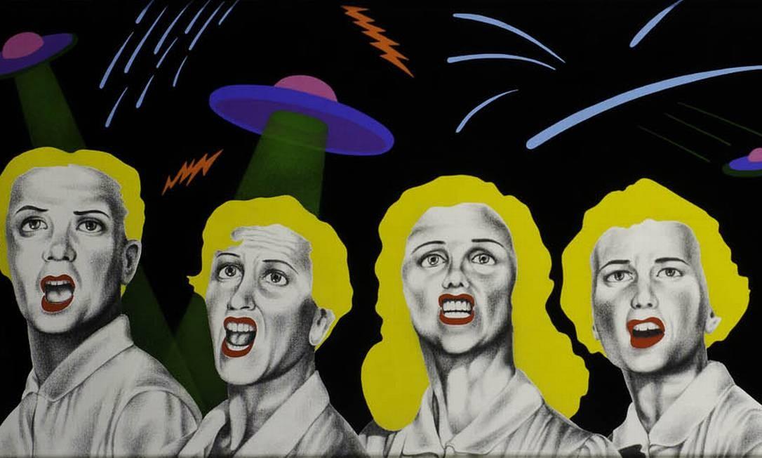'Ataque Automático', obra de 1985, obra do pintor gaúcho Milton Kurtz (1951 - 1996) Foto: Reprodução