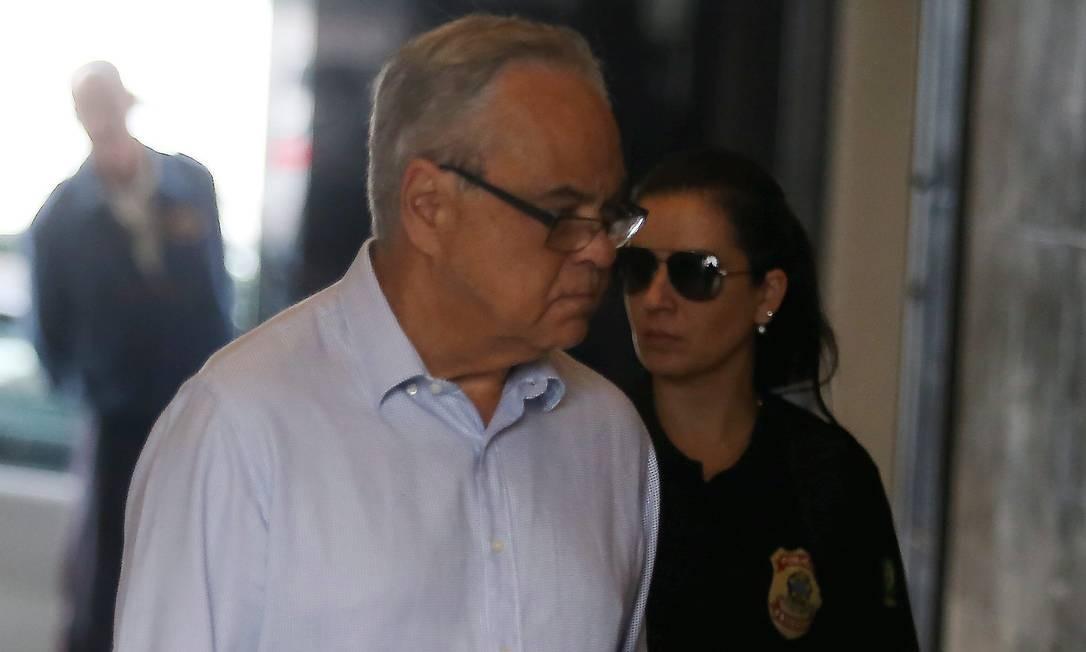 Lélis Teixeira, ex-presidente da Fetranspor, chegando na Sede da Policia Federal Foto: Fabiano Rocha / Agência O Globo/03-07-2017