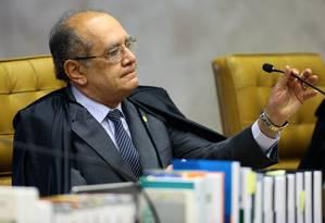 Ministro Gilmar Mendes durante sessão no STF - 21/09/2017 Foto: Jorge William / Agência O Globo