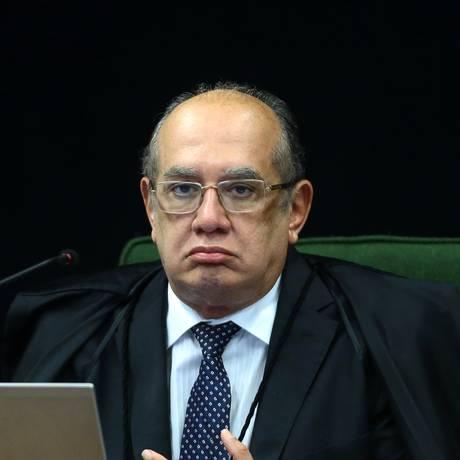 O ministro Gilmar Mendes, durante sessão da Segunda Turma do Supremo Tribunal Federal Foto: Jorge William / Agência O Globo
