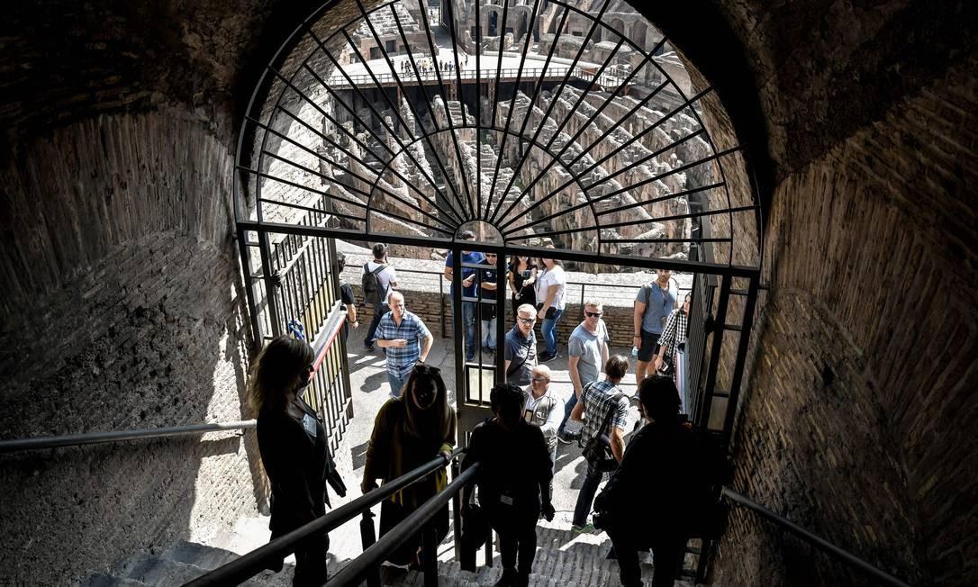 O tour guiado vai incluir um corredor de conexão que nunca foi aberto aos turistas antes Foto: Andreas Solaro / AFP