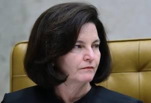 A procuradora-geral da República, Raquel Dodge, durante sessão do STF Foto: Jorge William / Agência O Globo/27-09-2017
