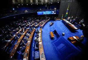 Senado recua e adia para dia 17 votação sobre afastamento de Aécio Foto: Agência Senado