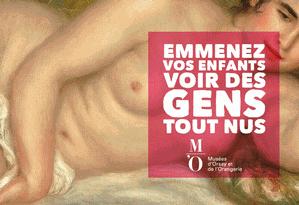 Campanha do Museu D'Orsay: 'Traga seus filhos para ver gente nua' Foto: Reprodução